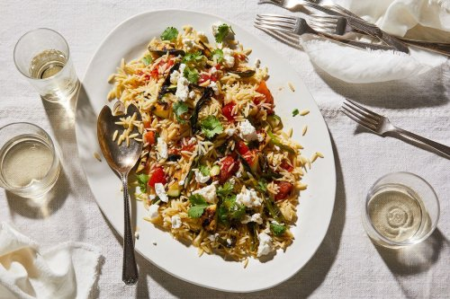 Grilled Zucchini Orzo