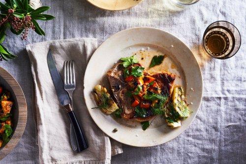 Grilled Pork Chops, Fennel & Orange