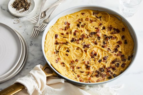 Spaghetti Carbonara Frittata