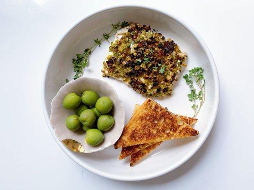 Fried Feta With Pistachios & Hot Honey