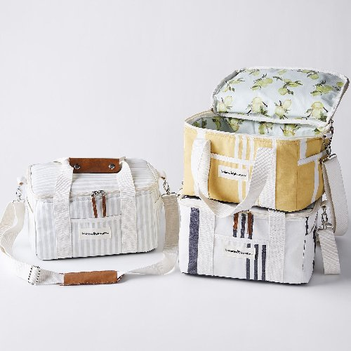 Vintage-Inspired Striped Canvas Coolers
