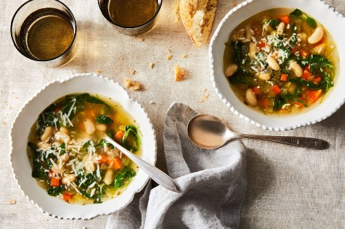Brothy Bean Soup With Parmesan