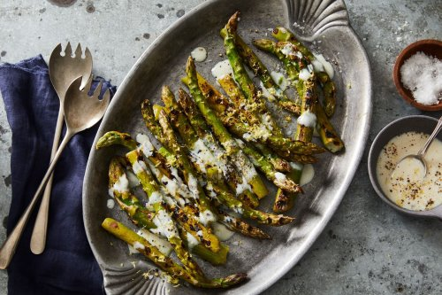 Asparagus With Lemon-Pepper Marinade From Bryant Terry