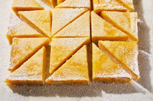 Salty-Tangy Preserved Lemon Bars