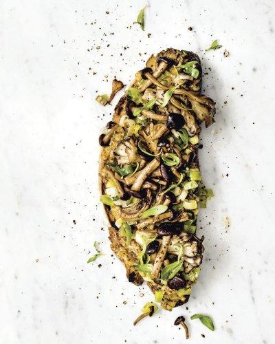 Caramelized Leek & Seared Mushroom Toast From Bryant Terry
