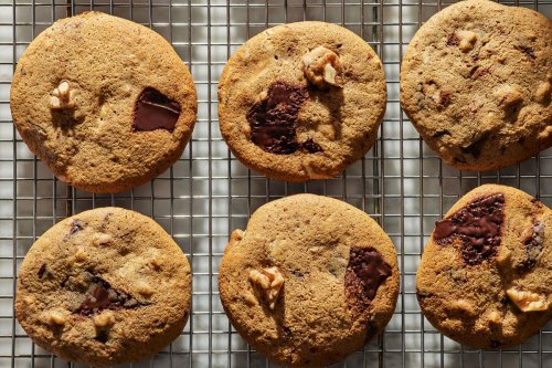 Nutty Espresso-Chocolate Chip Cookies