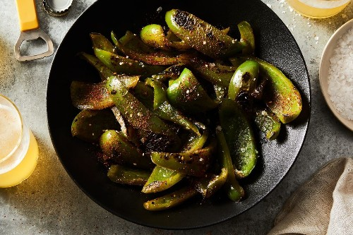 Shishito-Style Green Peppers From Michele Humes