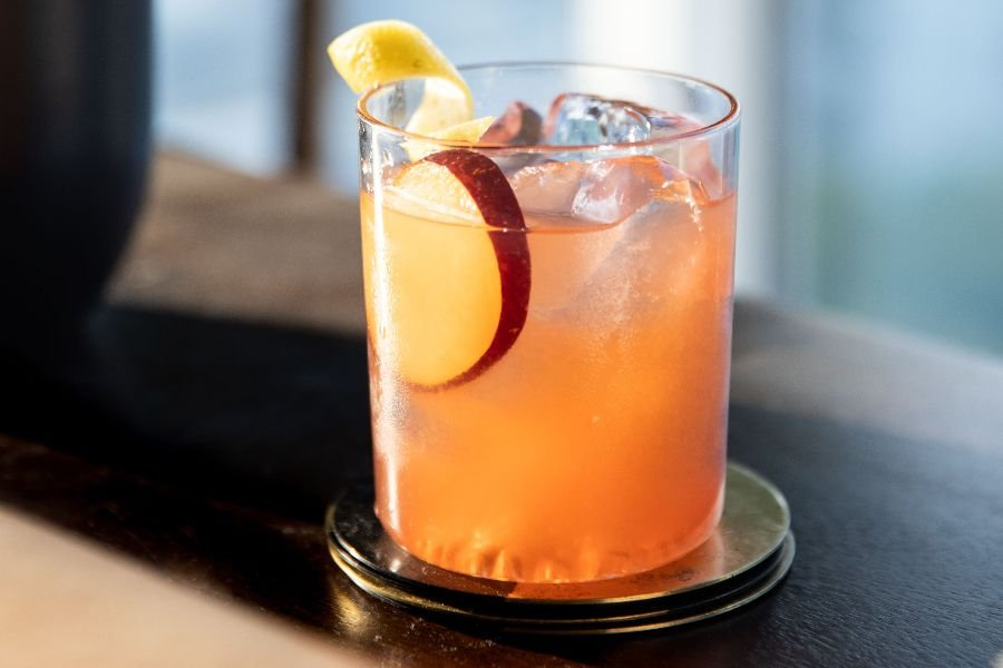 Bourbon Sour With Honey-Plum Syrup
