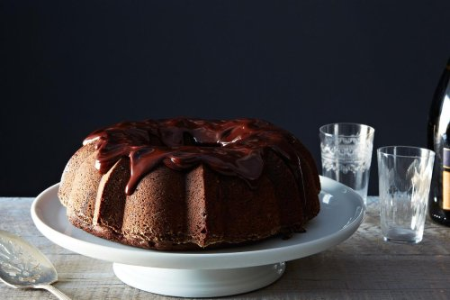 Chocolate-Mashed Potato Cake with Ganache