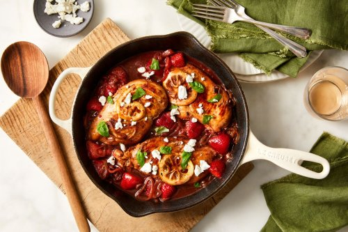 One-Skillet Chicken With Strawberry-Balsamic Sauce