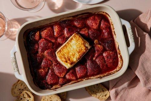 Baked Feta With Honeyed Strawberries