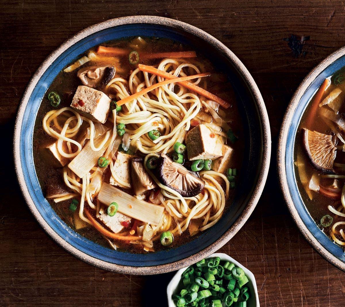 Slow-Cooker Shiitake-Noodle Hot & Sour Soup