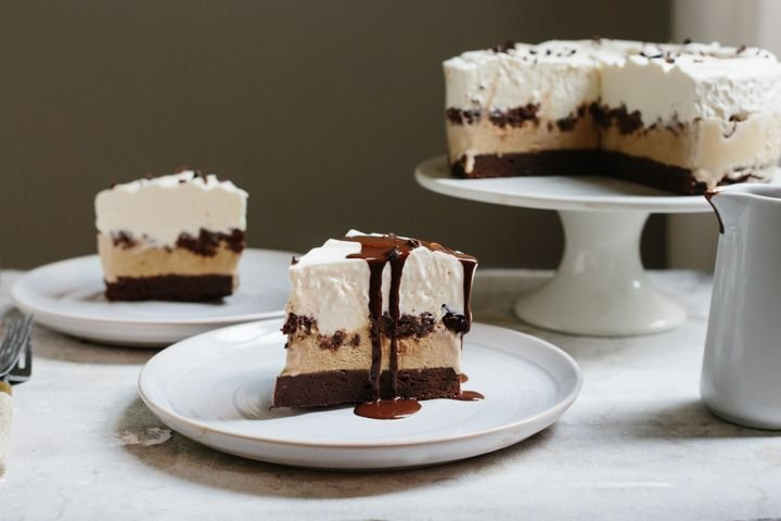 Chocolate Coffee Ice Cream Cake