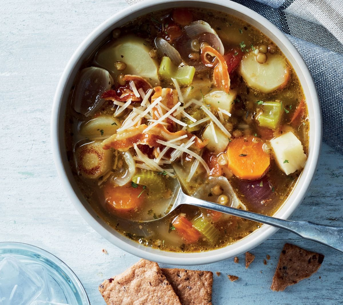 Slow-Cooker Lentil & Root Veggie Soup