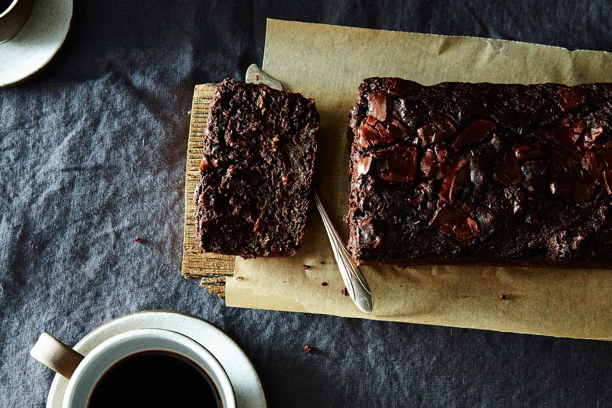 Dark Chocolate and Walnut Zucchini Bread
