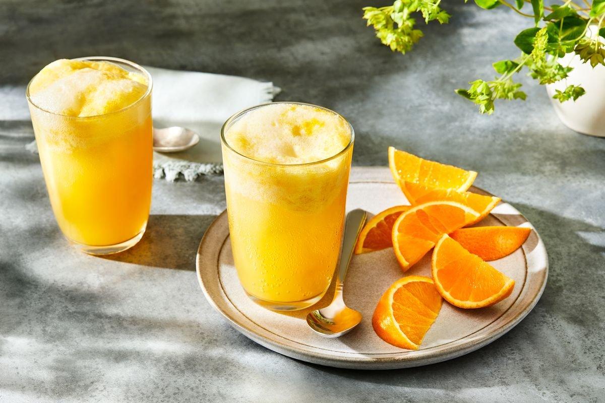 Fizzy Orange Sherbet Cooler