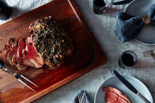 Leg of Lamb With Garlic Sauce