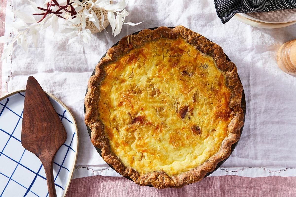 Quiche Lorraine With a Buckwheat Crust