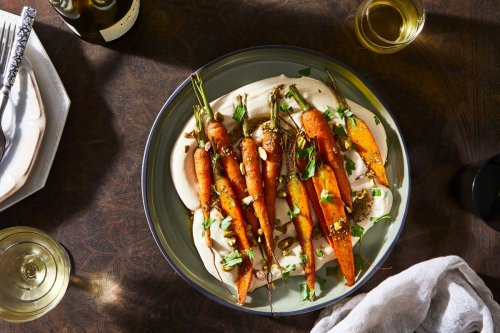 Whipped Hummus With Roasted Carrots & Za'atar Oil From Hetty McKinnon