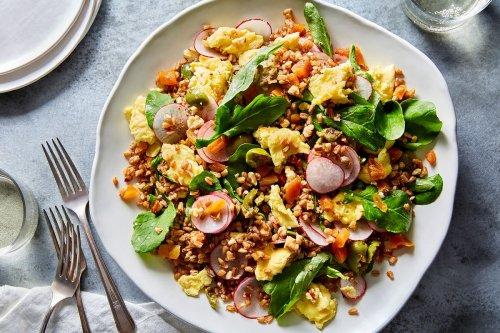 Torn Egg & Farro Salad