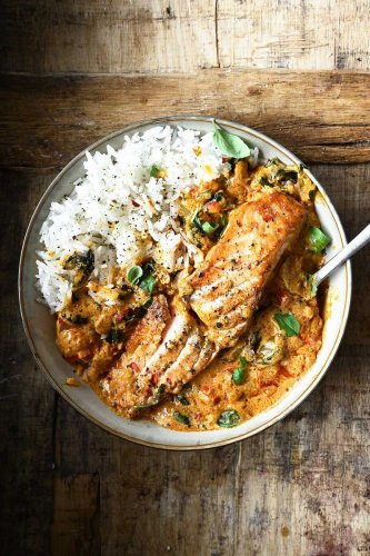 Thai Coconut Salmon Curry