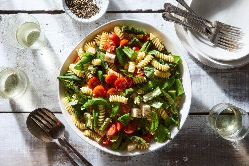 Grilled Okra Pasta Salad