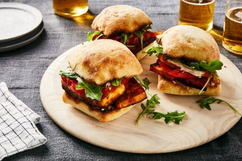 Marinated Tofu Steak Sandwiches