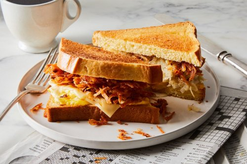 Latke, Egg & Cheese Sandwich, Inspired by B&H