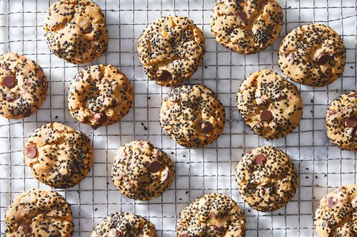 Miso Peanut Butter Cookies With Sesame & Chocolate