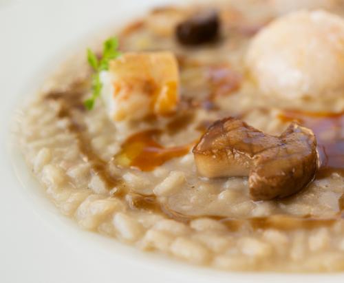 Risotto agli scampi cotti, crudi e funghi porcini - Food&Wine Italia