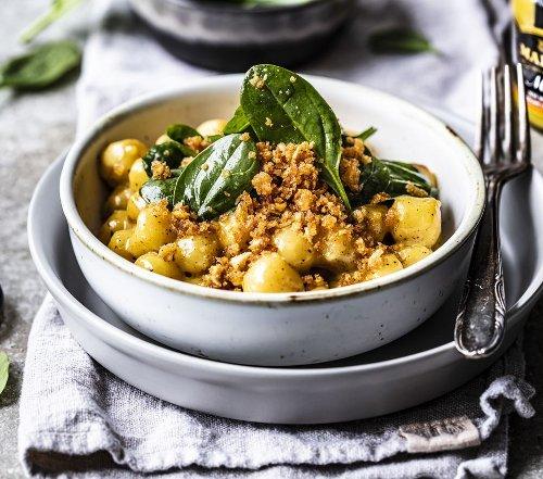Gnocchi in Senfsauce mit Spinatsalat | Mustard Lovers