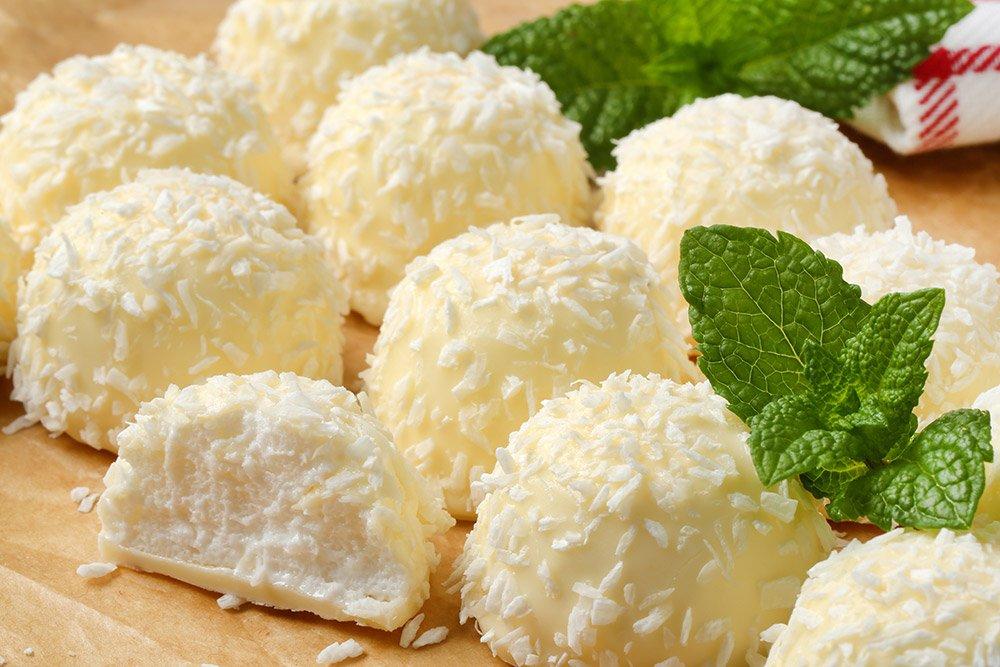 White Chocolate and Coconut Truffles Recipe