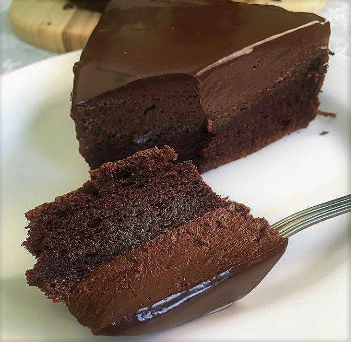 Double Deep Dark Chocolate Mousse Cake with Baileys Recipe
