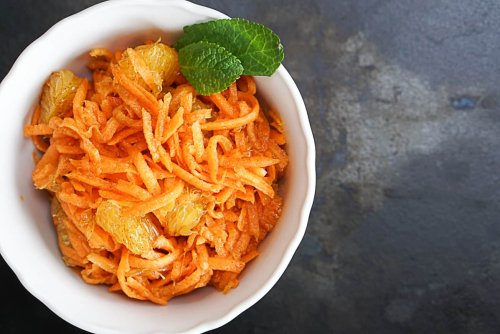 Moroccan Carrot Salad With Orange And Mint