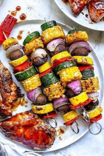Grilled Vegetables Skewers