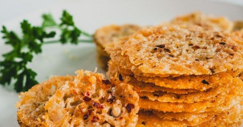 Baked Parmesan Crisps