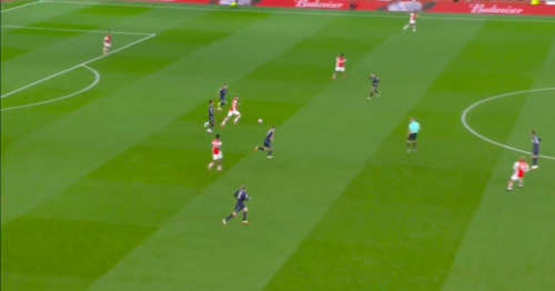 Arsenal fans compare White to Messi and Varane after dribble vs Aston Villa