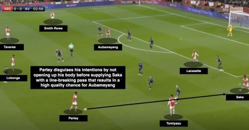 Thomas Partey proves to be crucial to Arsenal following Aston Villa win