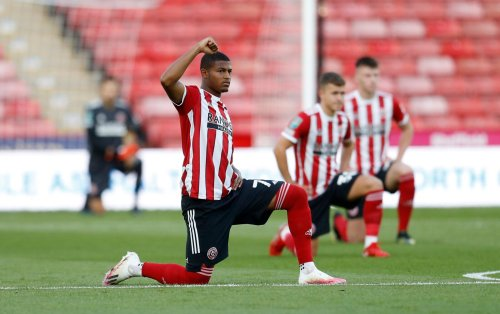What do the stats say about Rhian Brewster at Sheffield United so far this season?