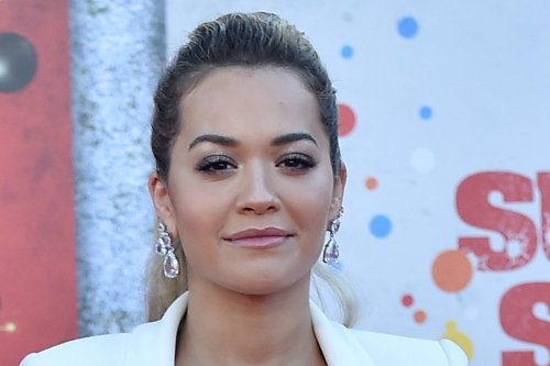 Rita Ora Puts a Sleek Twist on the Cutout Dress Trend in Crystal Pumps at 'Suicide Squad' Premiere
