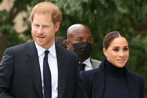 Meghan Markle Has a New York Minute in Monochrome Style & Classic Pumps