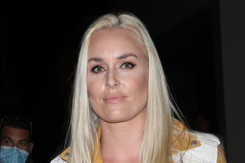 Lindsey Vonn Is the Ultimate Biker Chick in a Leather Jacket, Ripped Jeans & Edgy Leather Booties