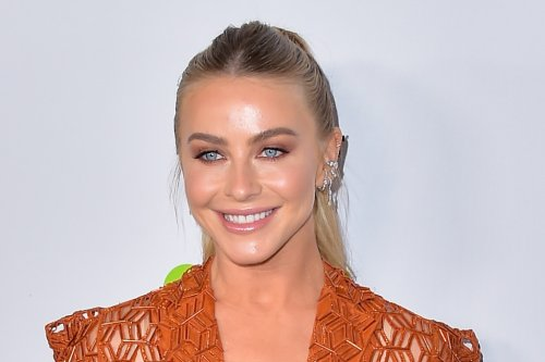 Julianne Hough Brings a Sleek Take to the Cutout Trend in Orange Dress and Trendy Mules at EMA Awards Gala