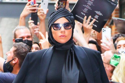 Lady Gaga Turns Heads in 9-Inch Heels, Dramatic Bodysuit & Glittering Tights