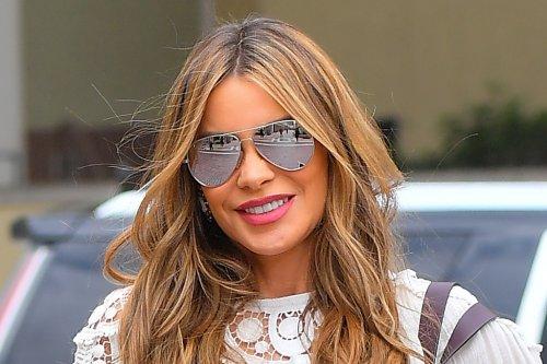 Sofia Vergara Gives Her Twist on the Cardigan Trend in a $17 Sleeveless Bodysuit & $25 Walmart Jeans