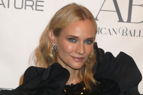 Diane Kruger Sparkles in Dramatic Sequined Mini Dress and Tuxedo Pumps at Ballet Fall Gala