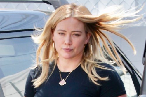 Hilary Duff's Chunky Gym Sneakers Come With Exaggerated Spiked Soles and Lightning Bolts