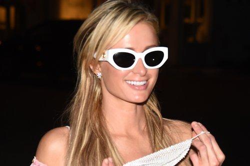 Paris Hilton Effortlessly Mixes Prints in Her Flirty Pink Dress & Leopard-Print Ballet Flats