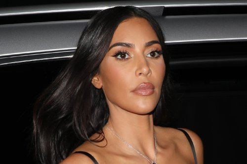 Kim Kardashian Makes a Case for Bodycon Dresses in a Ruched Number & See-Through Booties