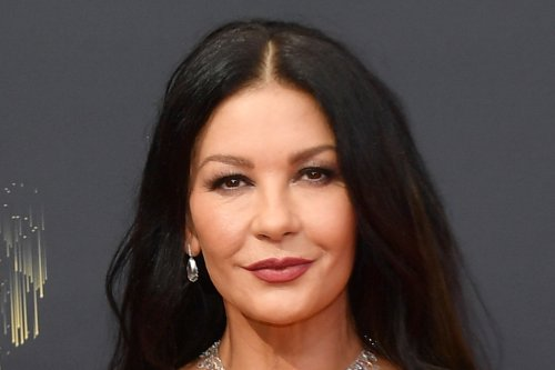 Catherine Zeta-Jones Is Timeless in a Strapless Gown & Satin Pumps at 2021 Emmys